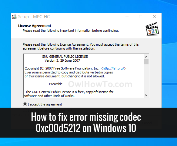 How to fix error missing codec 0xc00d5212 on Windows 10